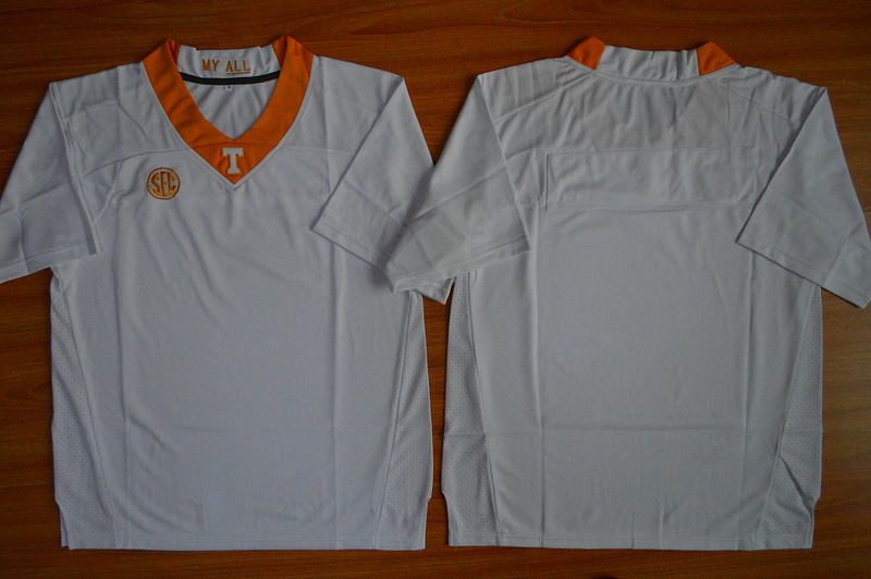 Tennessee Volunteers Blank White College Jersey