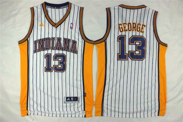 Pacers 13 Paul George White Swingman Jersey
