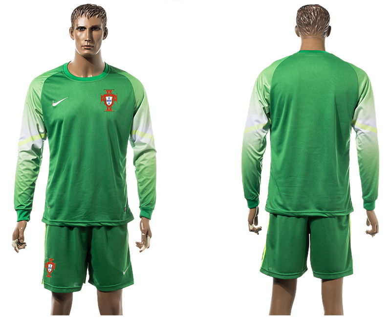 2015-16 Portugal Goalkeeper Long Sleeve Jersey