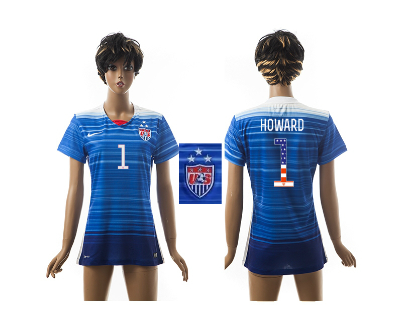 2015-16 USA 1 HOWARD Independence Day Women Away Jersey