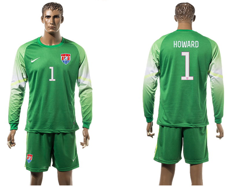 2015-16 USA 1 HOWARD Goalkeeper Long Sleeve Jersey