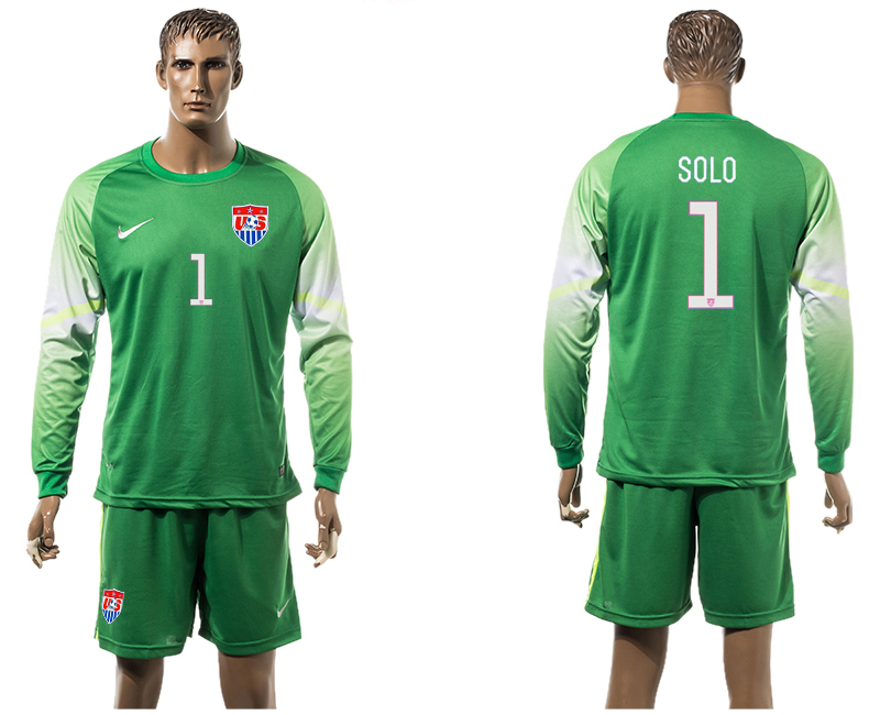 2015-16 USA 1 SOLO Goalkeeper Long Sleeve Jersey