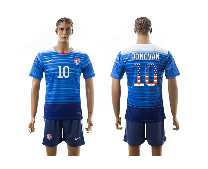 2015-16 USA 10 DONOVAN Independence Day Away Jersey