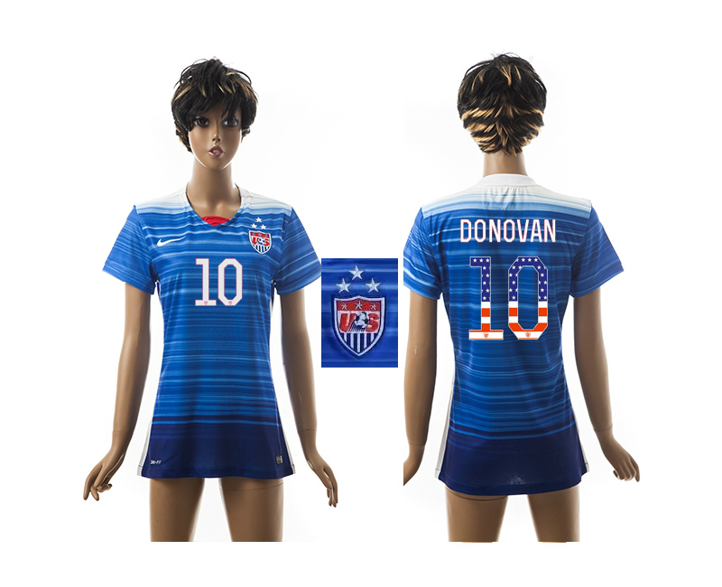 2015-16 USA 10 DONOVAN Independence Day Women Away Jersey