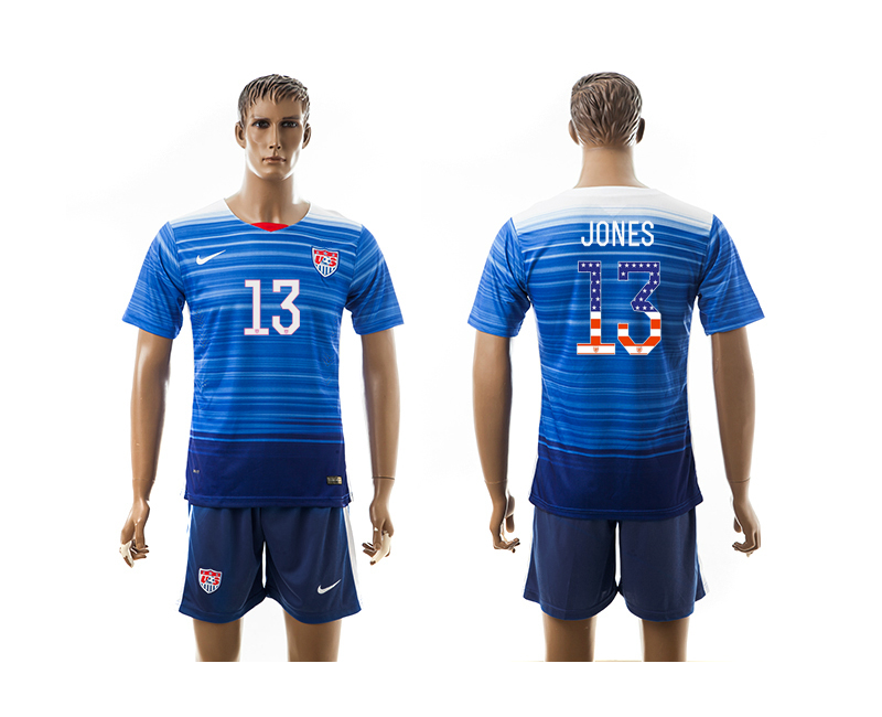 2015-16 USA 13 JONES Independence Day Away Jersey