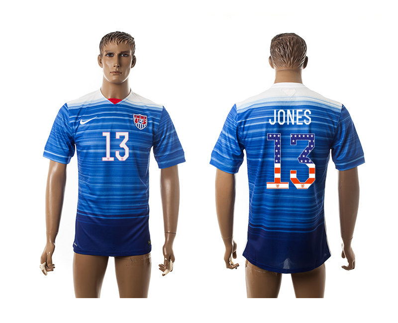 2015-16 USA 13 JONES Independence Day Away Thailand Jersey