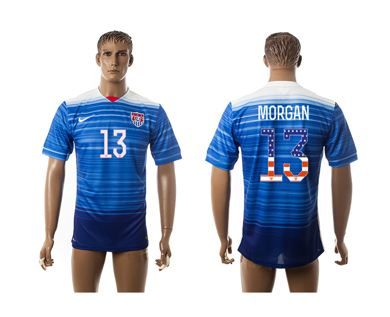 2015-16 USA 13 MORGAN Independence Day Away Thailand Jersey