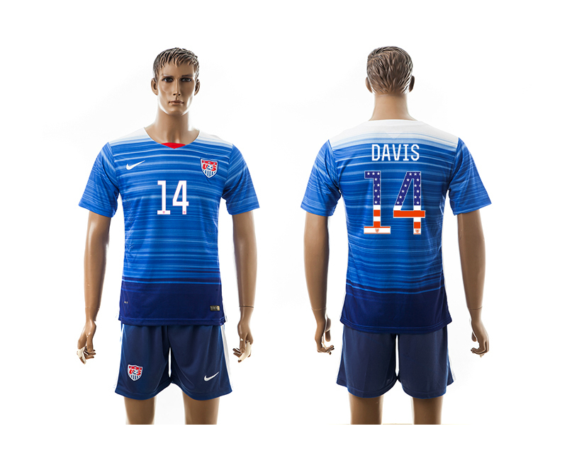 2015-16 USA 14 DAVIS Independence Day Away Jersey