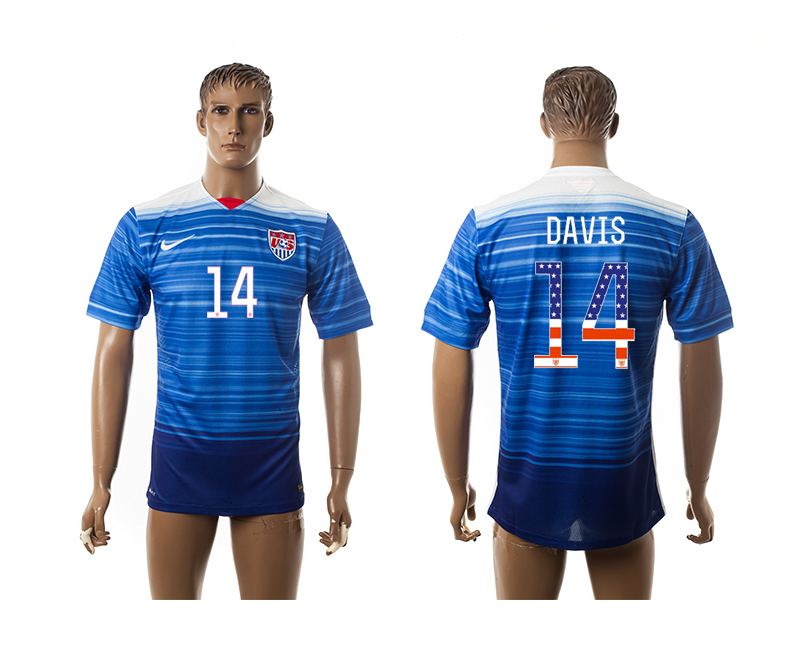 2015-16 USA 14 DAVIS Independence Day Away Thailand Jersey