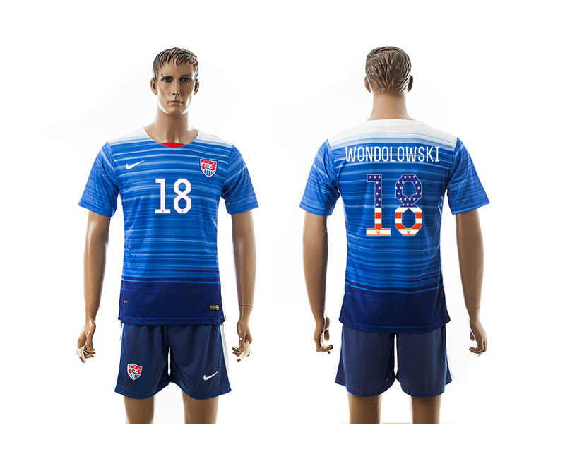 2015-16 USA 18 WONDOLOWSKI Independence Day Away Jersey