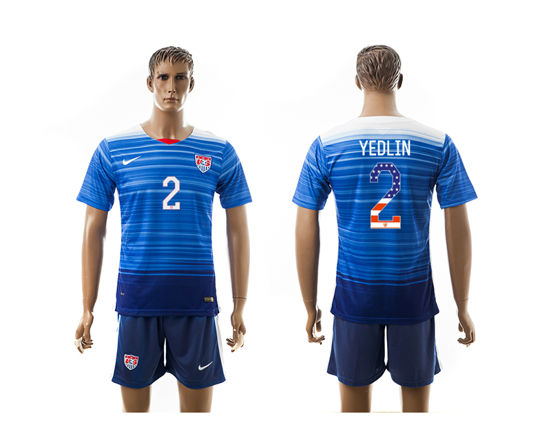 2015-16 USA 2 YEDLIN Independence Day Away Jersey