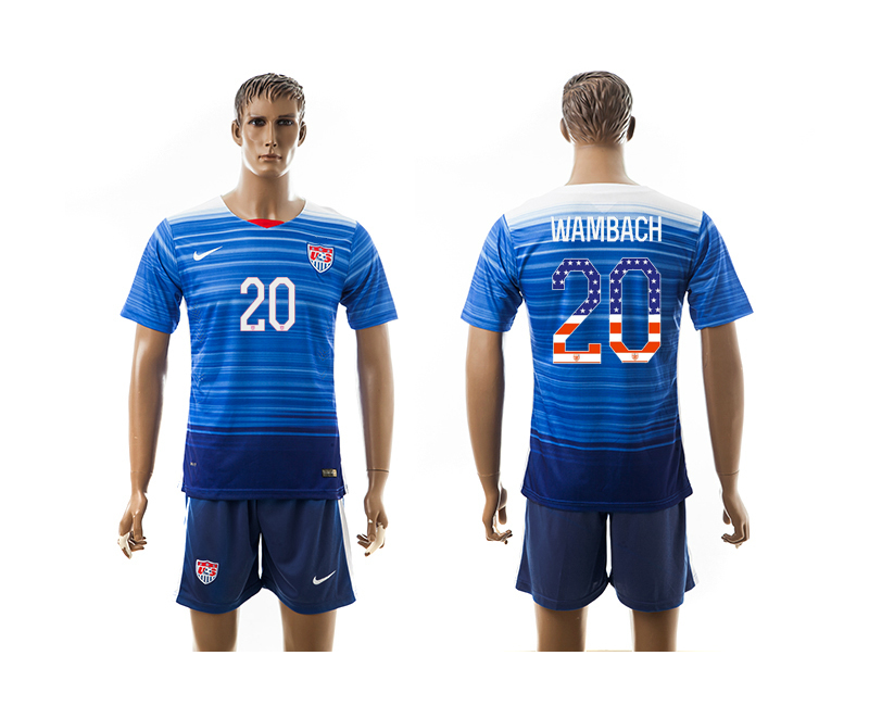 2015-16 USA 20 WAMBACH Independence Day Away Jersey