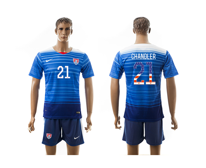 2015-16 USA 21 CHANDLER Independence Day Away Jersey