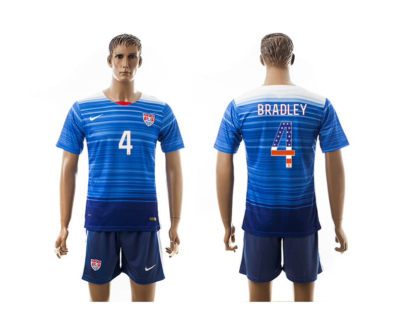 2015-16 USA 4 BRADLEY Independence Day Away Jersey