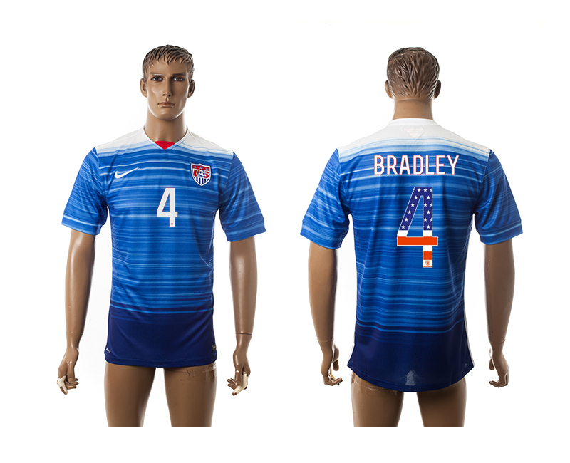 2015-16 USA 4 BRADLEY Independence Day Away Thailand Jersey