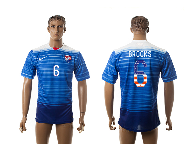 2015-16 USA 6 BROOKS Independence Day Away Thailand Jersey