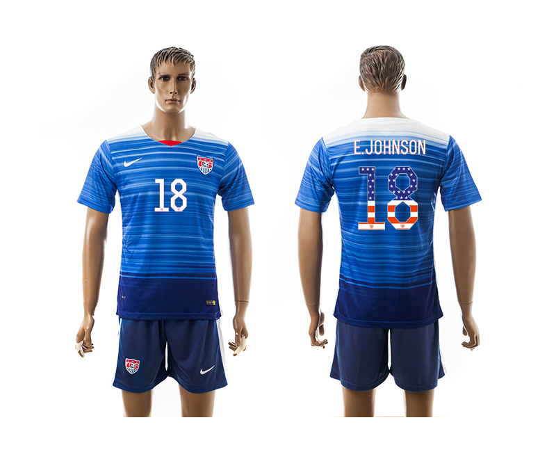 2015-16 USA 8 E.JOHNSON Independence Day Away Jersey