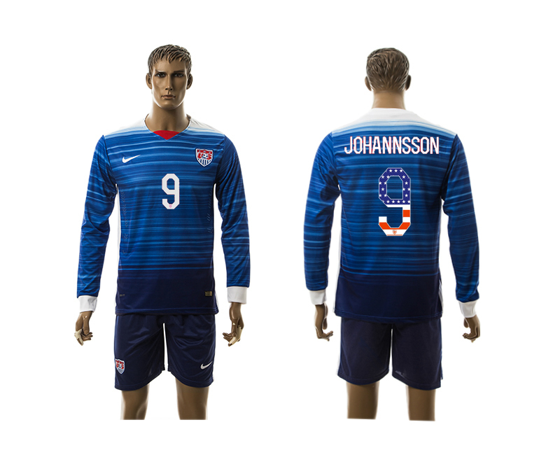 2015-16 USA 9 JOHANNSSON Independence Day Away Long Sleeve Jersey