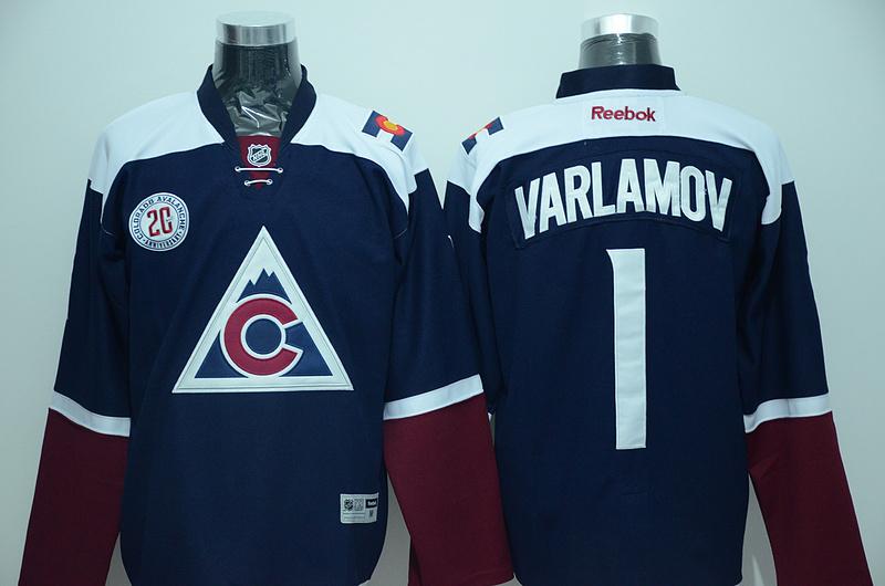 Avalanche 1 Semyon Varlamov Navy Blue Reebok Jersey