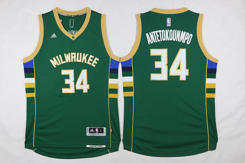 Bucks 34 Giannis Antetokounmpo Green Swingman Jersey