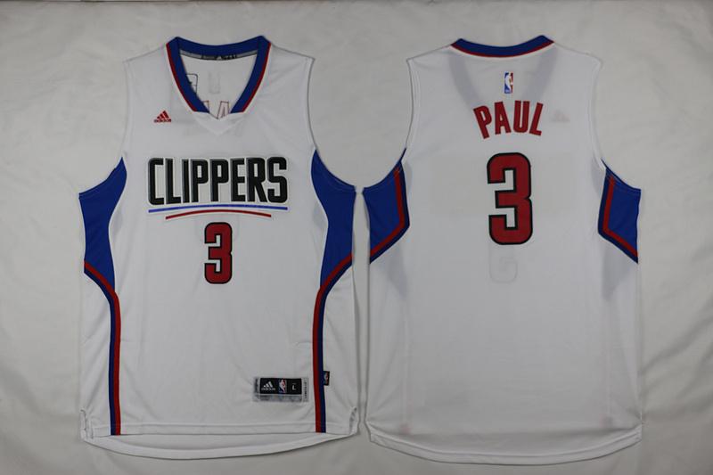 Clippers 3 Chris Paul White 2015 Swingman Jersey