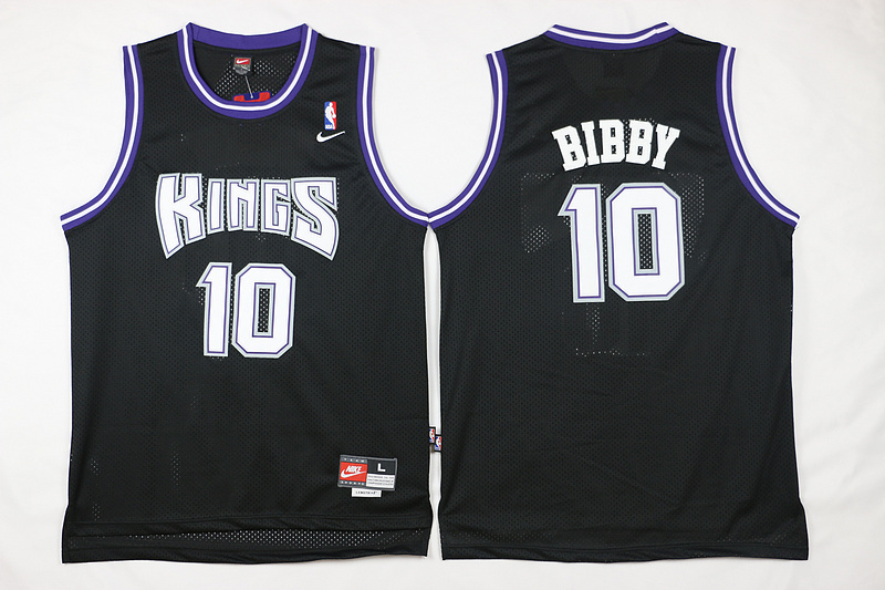 Kings 10 Mike Bibby Black Nike Jersey