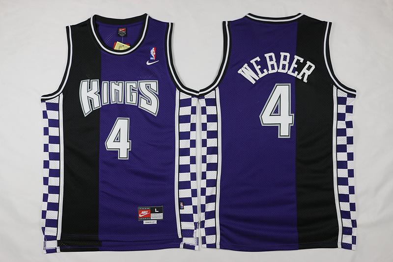 Kings 4 Chris Webber Purple Nike Throwback Jersey
