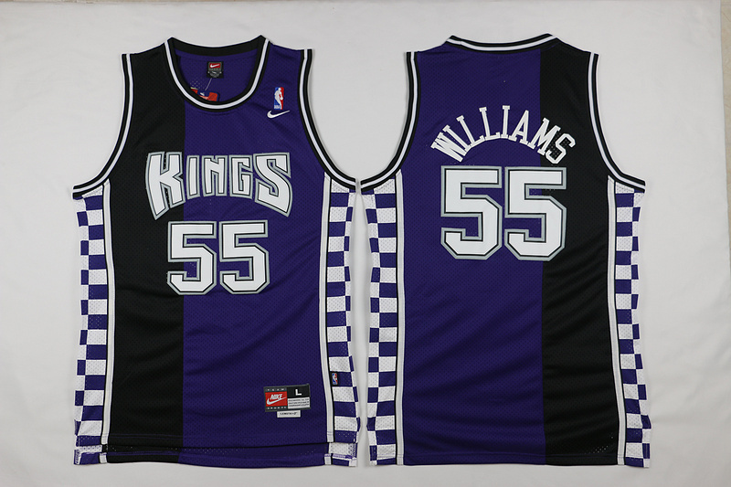 Kings 55 Jason Williams Purple Nike Throwback Jersey