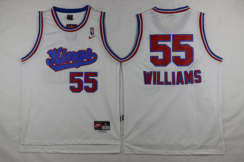 Kings 55 Jason Williams Purple White Throwback Jersey