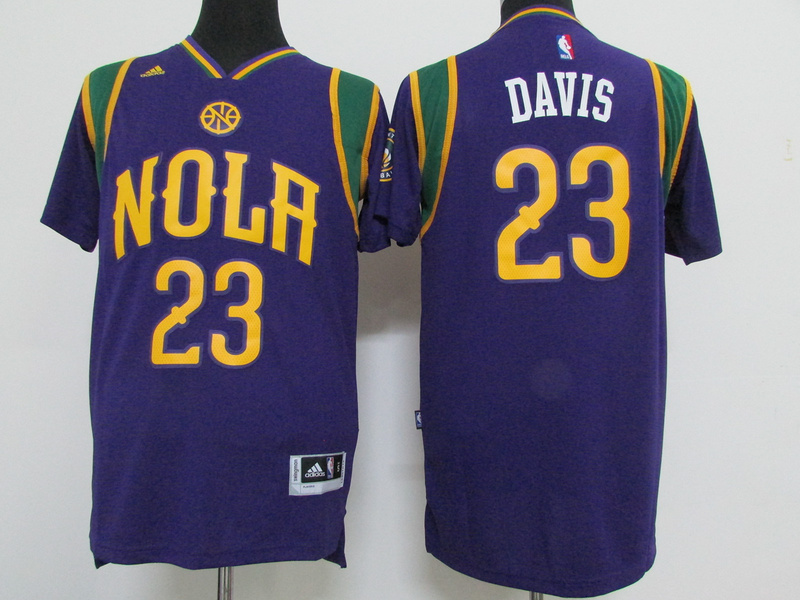 Pelicans 23 Anthony Davis Purple Pride Swingman Jersey