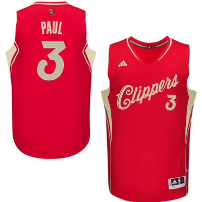 Clippers 3 Chris Paul Red 2015-16 Christmas Day Swingman Jersey