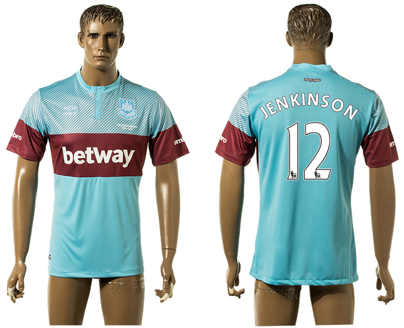 2015-16 West Ham United 12 JENKINSON Away Thailand Jersey