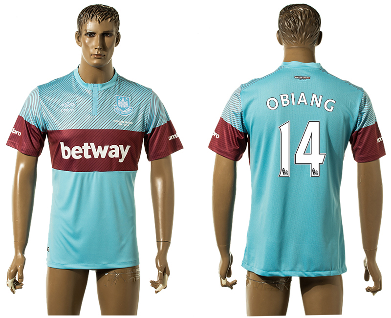 2015-16 West Ham United 14 OBIANG Away Thailand Jersey