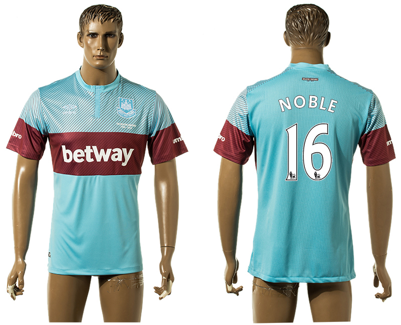 2015-16 West Ham United 16 NOBLE Away Thailand Jersey