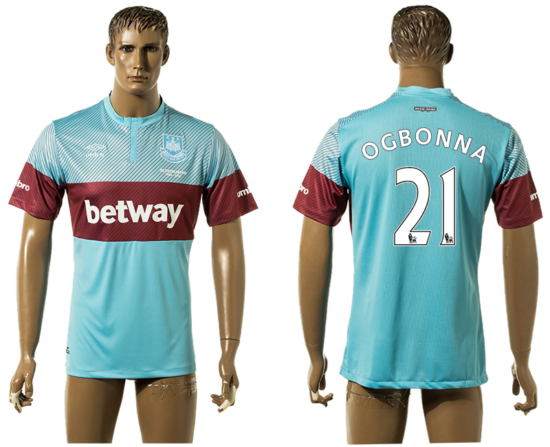 2015-16 West Ham United 21 OGBONNA Away Thailand Jersey