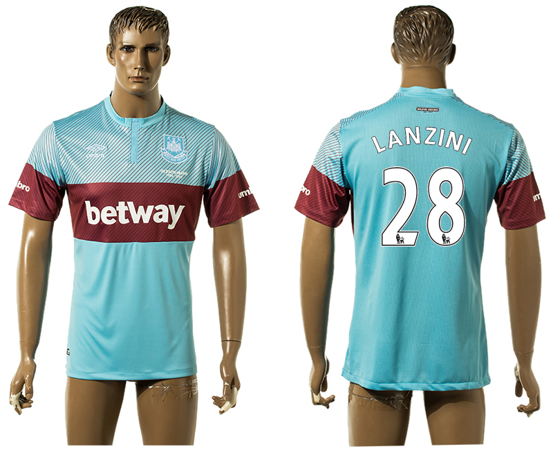 2015-16 West Ham United 28 LANZINI Away Thailand Jersey