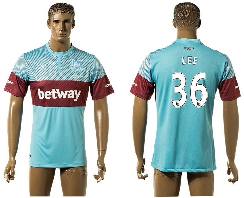 2015-16 West Ham United 36 LEE Away Thailand Jersey