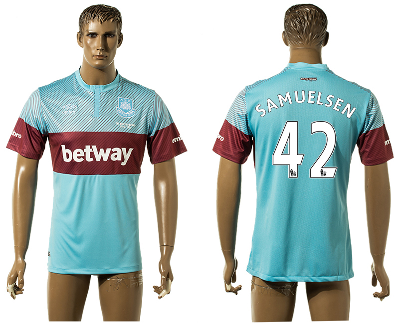 2015-16 West Ham United 42 SAMUELSEN Away Thailand Jersey