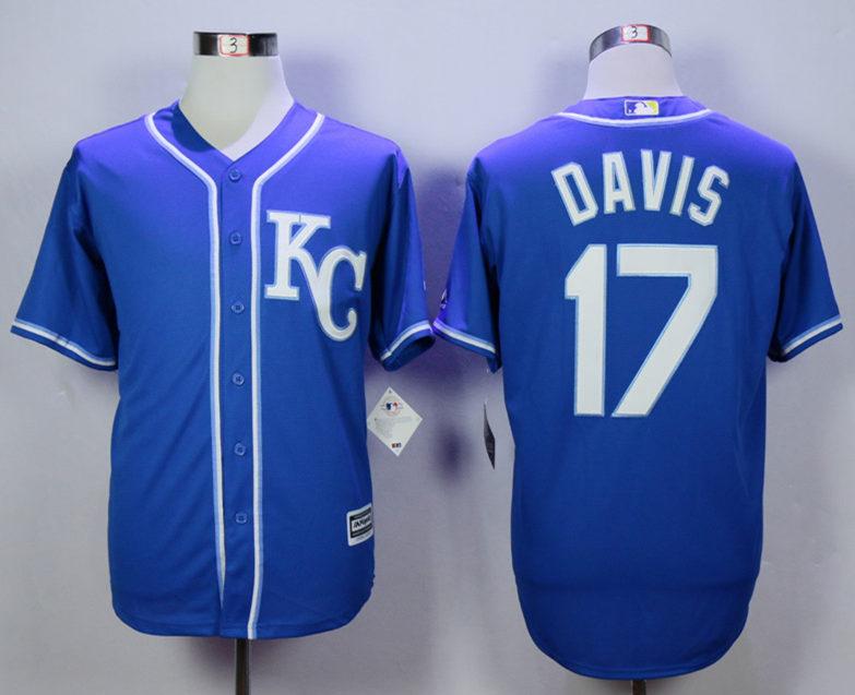 Royals 17 Wade Davis Blue New Cool Base Jersey