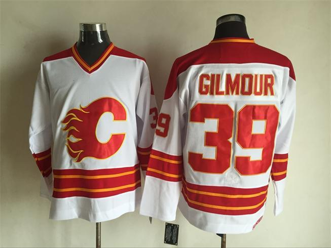 Flames 39 Doug Gilmour White CCM Jersey