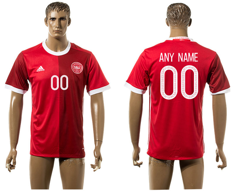2016-17 Denmark Home Thailand Customized Soccer Jersey