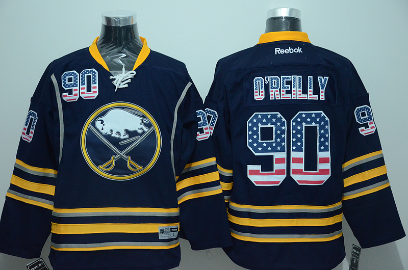 Sabres 90 Ryan O'Reilly Blue US Flag Reebok Jersey