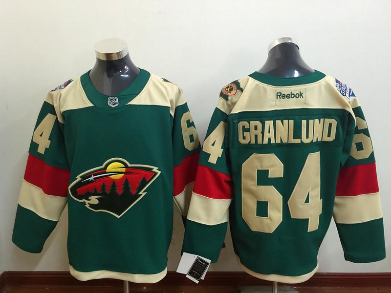 Wild 64 Mikael Granlund Green 2016 Stadium Series Reebok Jersey