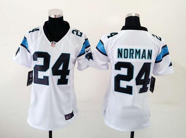 Nike Panthers 24 Josh Norman White Women Game Jersey
