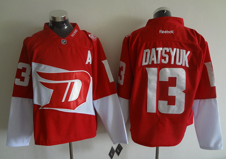 Red Wings 13 Pavel Datsyuk Red 2016 Stadium Series Reebok Jersey