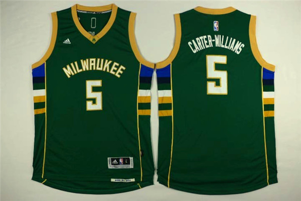 Bucks 5 Michael Carter-Williams Green Swingman Jersey