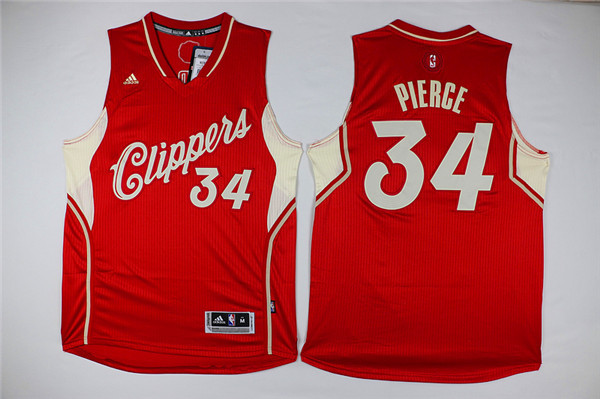 Clippers 34 Paul Pierce Red 2015-16 Christmas Day Swingman Jersey