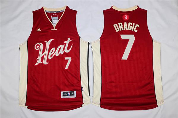 Heat 7 Goran Dragic Red 2015-16 Christmas Day Swingman Jersey