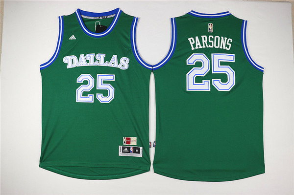 Mavericks 25 Chandler Parsons Green Cityscape Swingman Jersey