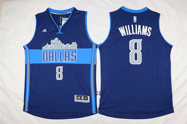 Mavericks 8 Deron Williams Navy Blue Cityscape Swingman Jersey